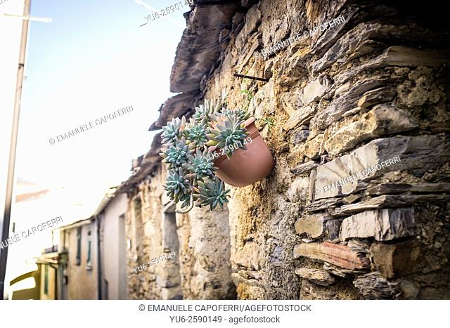 glimpses of streets, Villatalla, Liguria, Italy