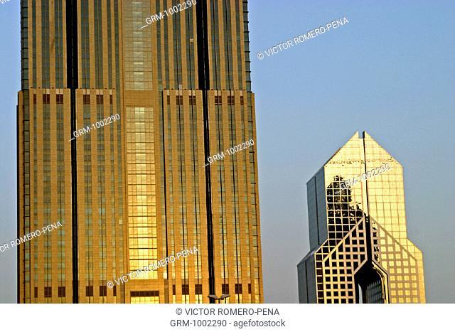 Dusit hotel and Shangri-La hotel on Sheikh Zayed Road, Dubai, U.A.E