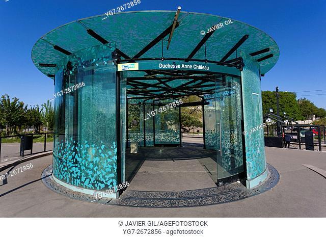 Bus station Duchesse Anne Chateau, Nantes, Pays de la Loire, France