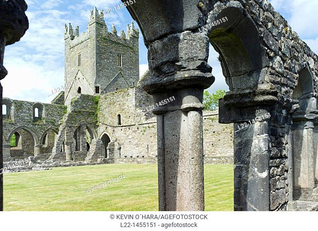 Jerpoint Abbey is a Cistercian abbey, founded in the second half of the 12th century, near Thomastown, County Kilkenny, Ireland