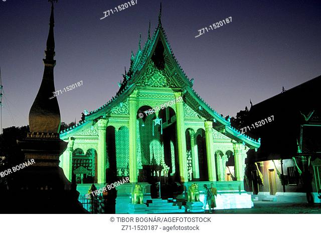 Wat Sop buddhist temple, Luang Prabang, Laos