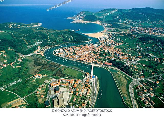 Plencia. Gorliz in background. Vizcaya. Euskadi. Spain