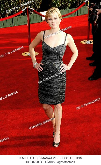 Reese Witherspoon (wearing a Nina Ricci dress and Van Cleef and Arpels bracelet) at arrivals for 13th Annual Screen Actors Guild SAG Awards - ARRIVALS