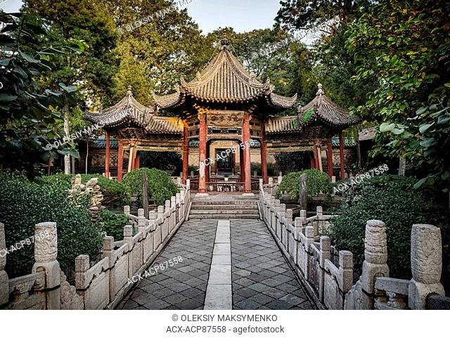Pavilion at Great Mosque, oldest mosque in Xi'an, Shaanxi, China