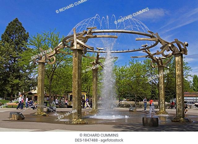 Riverfront Park Fountain, Spokane, Washington, USA