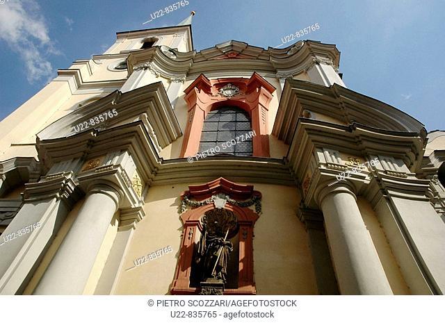 Prague Czech Republic, the Svateho Tomas in Mala Strana