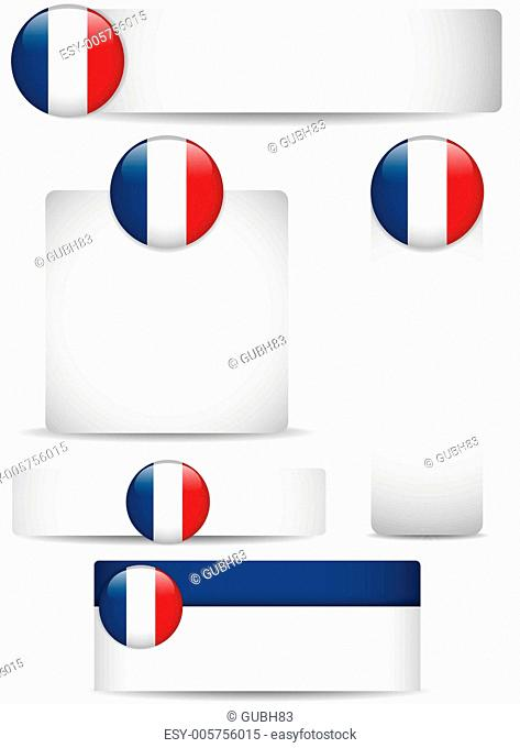 France Country Set of Banners