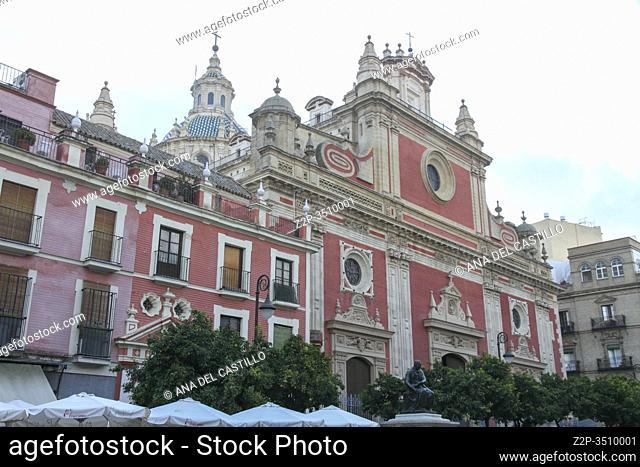 Plaza del Salvador church, Seville Andalusia, Spain