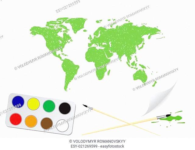 Drawing green map