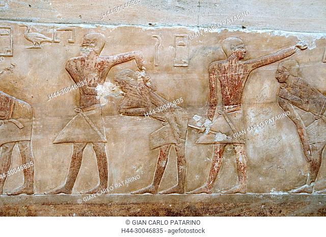 Saqqara, Cairo, Egypt, mastaba of Kagemni V dyn ( 2321-2290 B C ) Old Kingdom