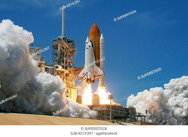 The Shuttle Atlantis lifts off Pad 39A at 2:20pm EDT May 14, 2010, on mission STS-132 carrying Russia's Rassvet module to the International Space Station