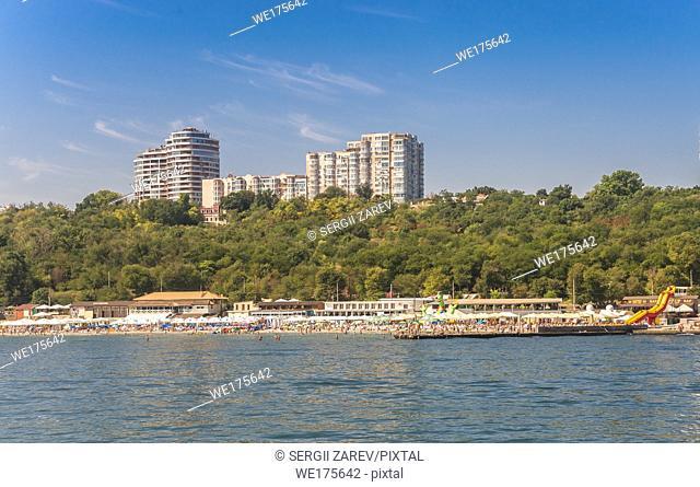 Langeron beach in Odessa, Ukraine, in a sunny summer day