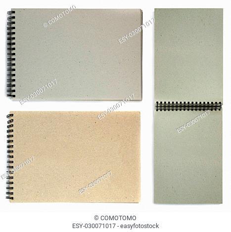 Notebook isolated on white background. Black notepad