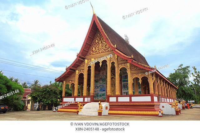 Wat Manorom, Buddhist temple, Luang Prabang, Laos