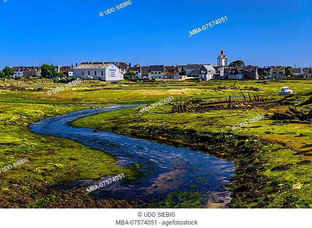 France, Brittany, Finistère Department, Guilvinec-Léchiagat, Arrière-Port, ship graveyard