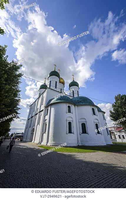 Russia, Kolomna. Uspensky cathedral in the historical part of the ancient russian town Kolomna