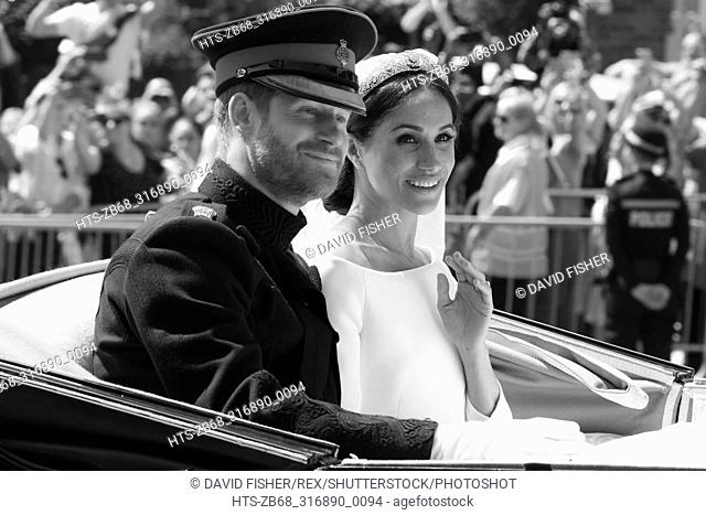 Mandatory Credit: Photo by David Fisher/REX/Shutterstock (9685483ak) Prince Harry and Meghan Markle The wedding of Prince Harry and Meghan Markle