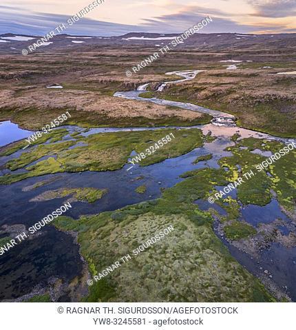 Dynjandi waterfalls area, Iceland