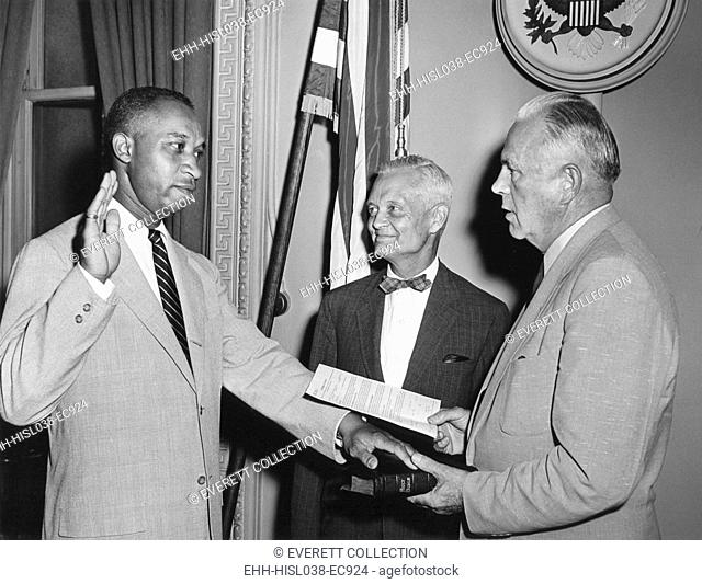 In July of 1955, Frederic Morrow became the first African American Presidential aide in history. He served as Administrative Officer for Special projects on...