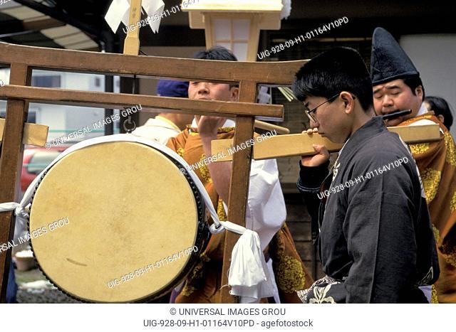 Japan, Takayama. Drum At Festival