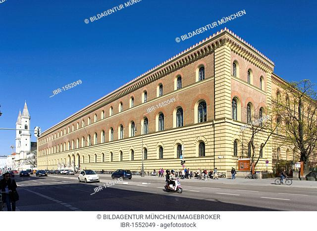 Bavarian State Library in Ludwigstrasse in the district of Maxvorstadt, Munich, Bavaria, Germany, Europe