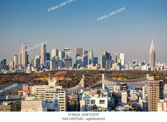 Japan, Asia, Tokyo, City, Autumn, Meiji Jingu, Olympic, park, Shinjuku, skyline, stadium, touristic, travel