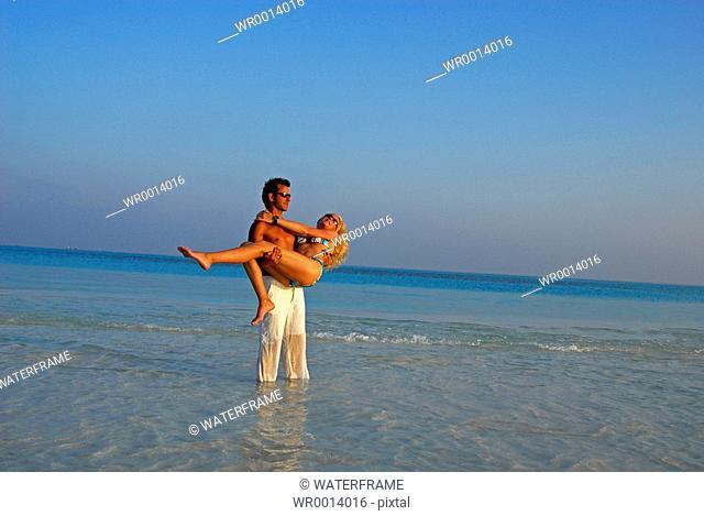 Lovers at Beach, Indian Ocean, Maldives