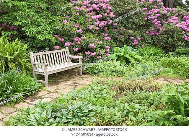 Bench at Inniswood Metro Gardens, Columbus, Ohio