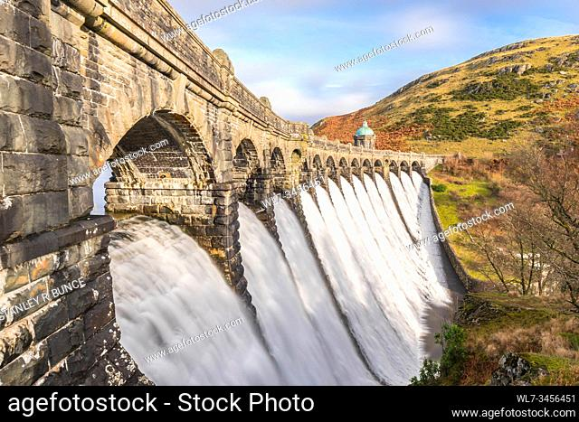 Craig Goch Dam Elan Valley Radnorshire, Wales UK. November 2019