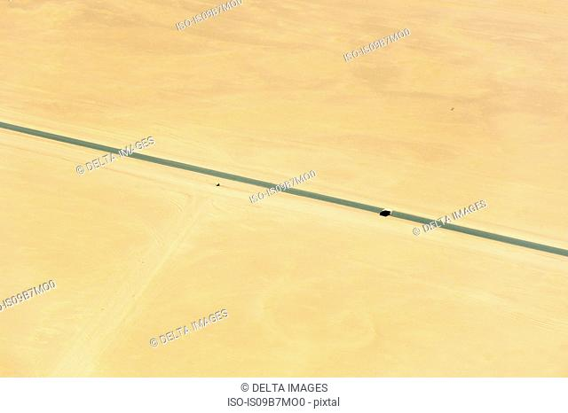 Aerial view of road in the Namib Desert, Namibia