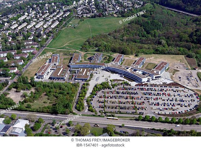 Aerial photo, new buildings of the Fachhochschule Koblenz, Charterhouse district, Koblenz, Rhineland-Palatinate, Germany, Europe
