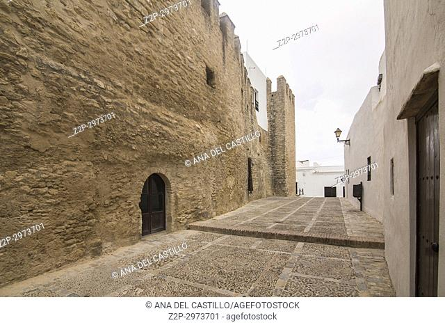 Vejer de la Frontera white village in, Cadiz province, Andalusia, Spain. Castle walls