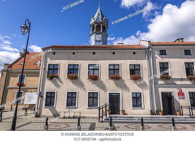City Hall building in Barczewo town, Warmian-Masurian Voivodeship of Poland