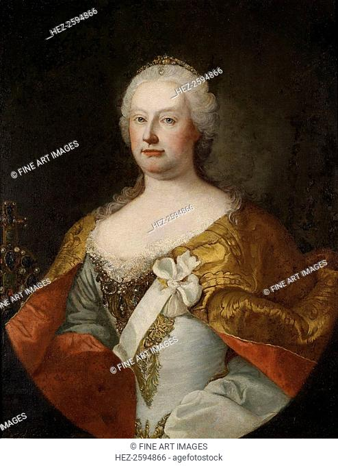 Portrait of Empress Maria Theresia of Austria (1717-1780), 1750s. From a private collection