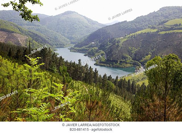 Ibaieder reservoir, Beizama, Guipuzcoa, Basque Country, Spain