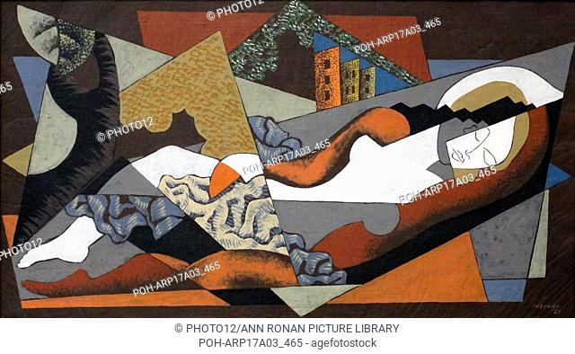 Femme couchee; la grande baigneuse (Reclining woman or the great bather) 1922 by Leopold Survage 1879-1968. Léopold Survage was a French painter of...
