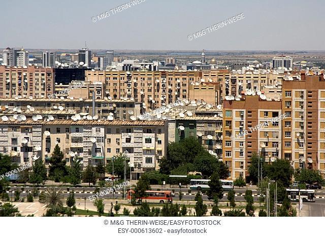 Old residential buildings, Ashgabat, Turkmenistan