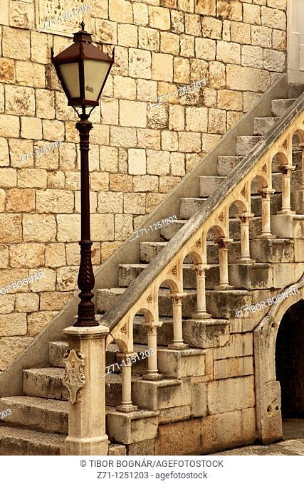 Croatia, Trogir, Town Hall, courtyard, historic architecture
