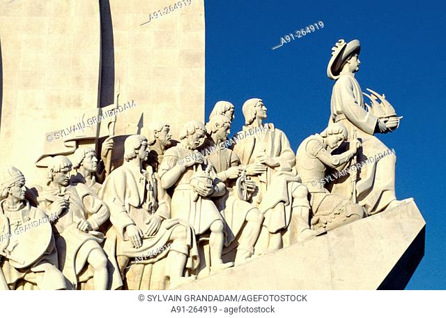 Monument of the Discoveries dedicated to portuguese seamen. Lisbon. Portugal