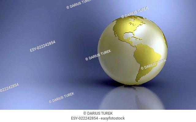 Golden Globe on blue background - Amerika