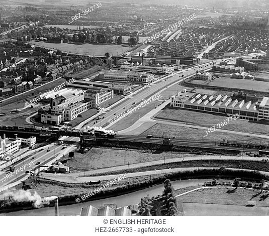 Great West Road, Brentford, Middlesex, 1937. Artist: Aeropictorial Ltd