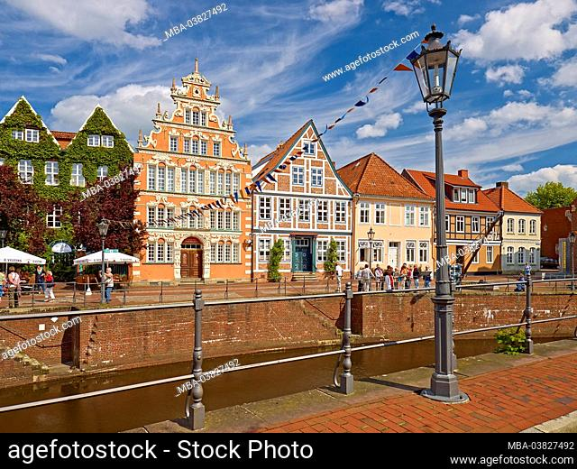 Mayor Hintze House at the Hanseatic Port of the Hanseatic City of Stade, Lower Saxony, Germany