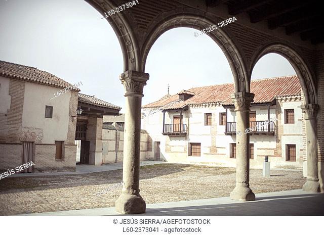 birthplace of Isabel la Catolica, alace of John II, Madrigal de las Altas Torres. Avila province, Castilla-Leon, Spain