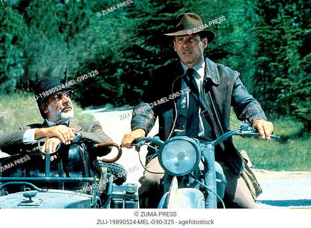 May 24, 1989; Amarillo, TX, USA; SEAN CONNERY and HARRISON FORD star as Professor Henry Jones and Indiana Jones in the action adventure film 'Indiana Jones and...