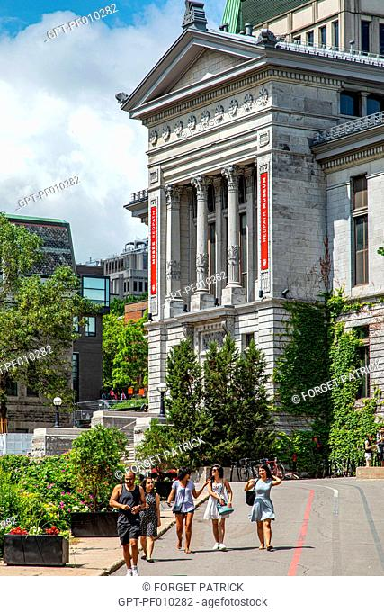 REDPATH MUSEUM, NATURAL HISTORY MUSEUM AT MCGILL UNIVERSITY, RUE SHERBROOKE, MONTREAL, QUEBEC, CANADA