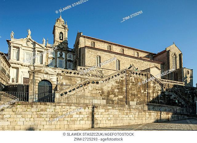 Baroque church of St Francis in Porto, Portugal