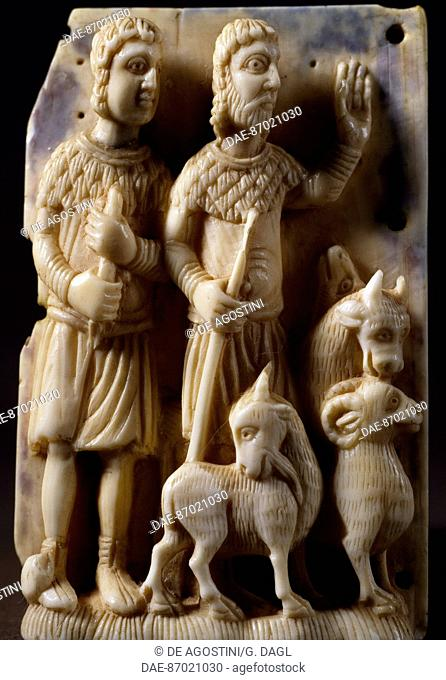 Pastors, ivory figures. Germany, 12th century.  Florence, Museo Nazionale Del Bargello (Bargello National Museum)
