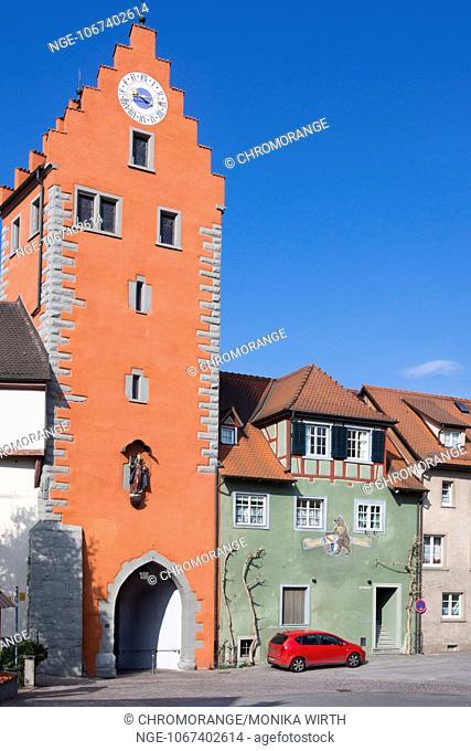Obertor, town gate, Lake Constance, Meersburg, Baden-Württemberg, Germany, Europe