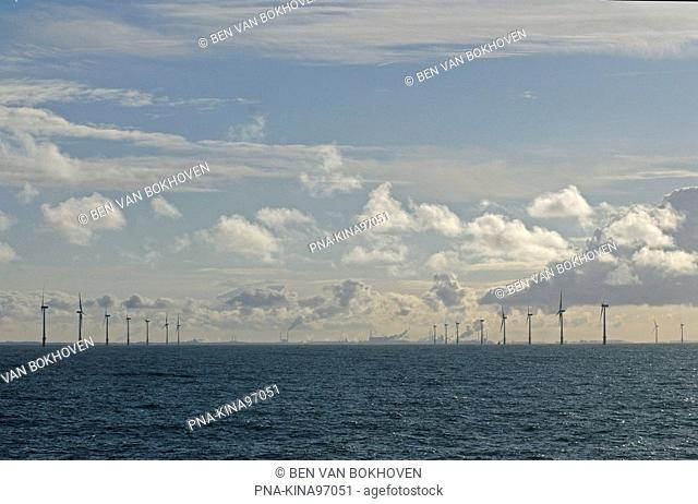 Offshore Windpark Egmond aan Zee OWEZ, Northsea, Egmond, North Holland, The Netherlands, Holland, Europe