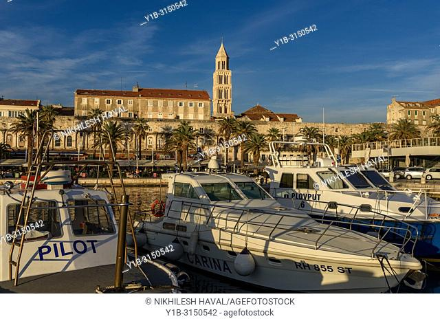 Yachts near Riva, Split, Croatia
